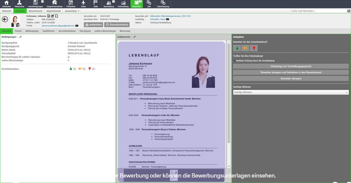 Mitarbeitergewinnung Screen drei