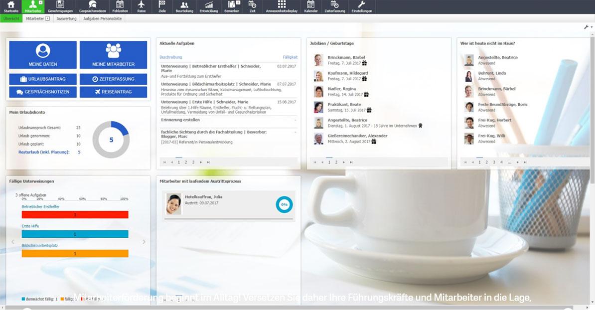 Personalmanagement Screen eins